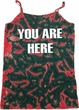 You Are Here Ladies Tie Dye Camisole Tank Top