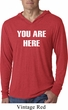 You Are Here Mens Lightweight Hoodie Shirt