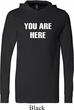 You Are Here Mens Lightweight Hoodie Tee