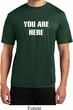 You Are Here Mens Moisture Wicking Shirt