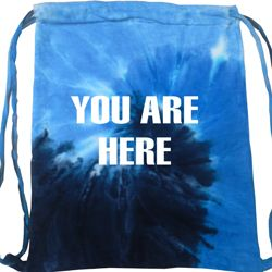 You Are Here Tie Dye Bag