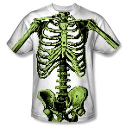 Zombie 8 Bit Skeleton Sublimation Shirt