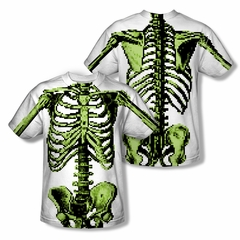 Zombie 8 Bit Skeleton Sublimation Shirt Front/Back Print