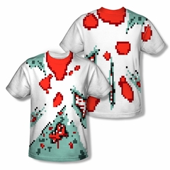 Zombie 8 Bit Zombie Sublimation Shirt Front/Back Print