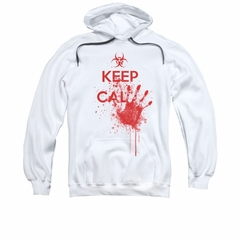 Zombie Hoodie Sweatshirt Keep Cal White Adult Hoody Sweat Shirt