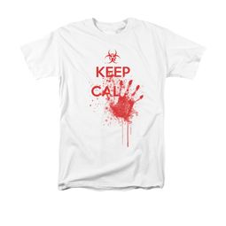 Zombie Shirt Keep Cal Adult White Tee T-Shirt