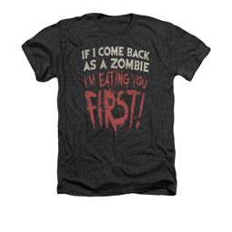 Zombie Shirt You First Adult Heather Charcoal Tee T-Shirt