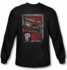 Zombie T-Shirt Mort Postem And Sons Black Adult Long Sleeve Tee Shirt