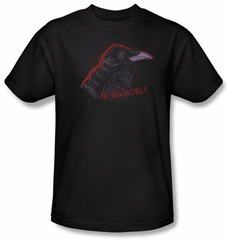 Zombie T-Shirt Nevermore Adult Black Tee Shirt