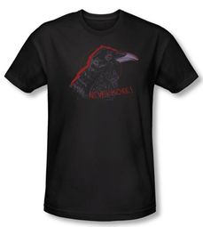Zombie T-Shirt Nevermore Black Adult Slim Fit Tee Shirt