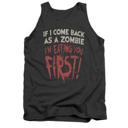 Zombie Tank Top You First Charcoal Tanktop
