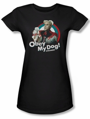 Zoolander Shirt Juniors Obey My Dog Black Tee T-Shirt