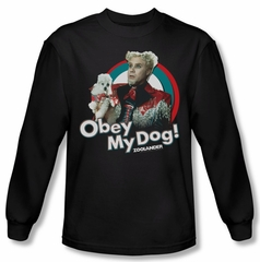 Zoolander Shirt Obey My Dog Long Sleeve Black Tee T-Shirt