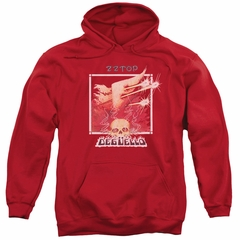ZZ Top Hoodie Deguello Cover Red Sweatshirt Hoody
