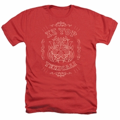 ZZ Top Shirt Texicali Demon Heather Red T-Shirt
