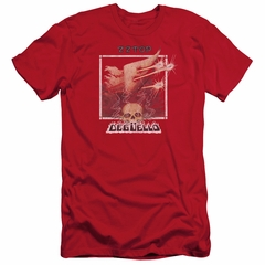 ZZ Top Slim Fit Shirt Deguello Cover Red T-Shirt