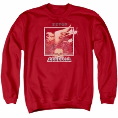 ZZ Top Sweatshirt Deguello Cover Adult Red Sweat Shirt