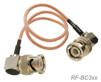 1ft BNC Right-Angle Male to BNC Right-Angle Male RG316 Cable
