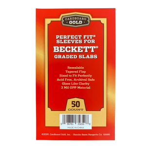 Perfect Fit Sleeves for Beckett Graded Cards/Slabs (Case/2,500)