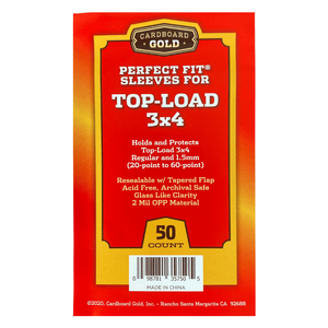 Perfect Fit Sleeves for Top-Load 3x4 20-60 Point (Case/2,500)