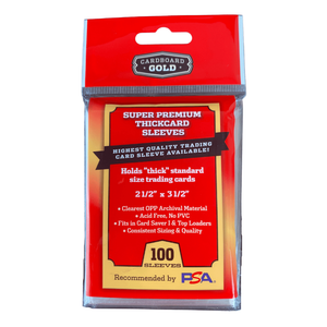 """Super Premium Card Sleeves for """"Thick"""" Trading Cards (Case/10,000)"""