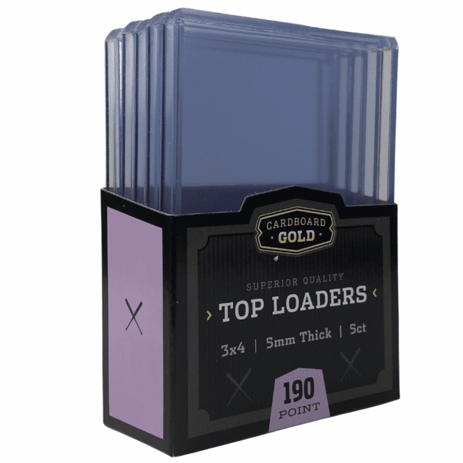 Top-Load 3x4 Trading Card Holder for Jersey/Memorabilia Cards - 5mm Opening - 190 Point  (Case/250)