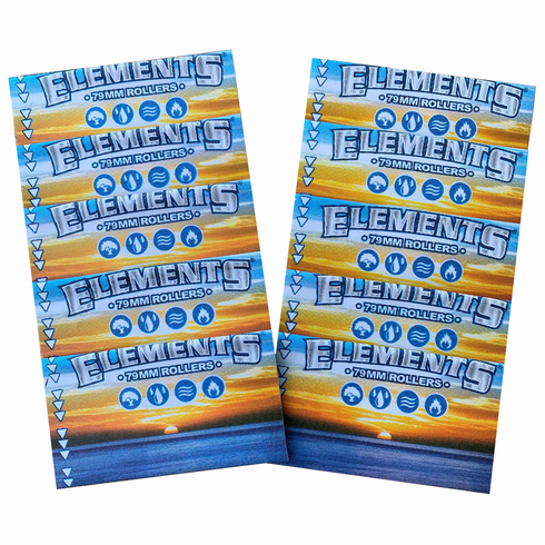 10 Pack Elements or Zen 79mm Replacement Spare Aprons Sleeves for 1 1/4, 1 1/2 & Double Wide Cigarette Hand Rolling Machines