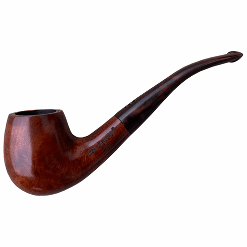 Carey Magic Inch Pipe - Full Bent Honey Brown Smooth Featherlight