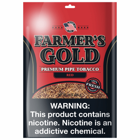 Farmers Gold Full Aroma Red Fine Cut Loose Pipe Tobacco - 16 oz Bag
