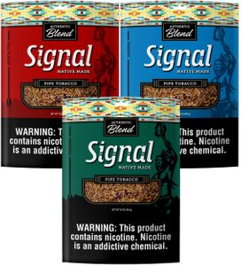 Signal Authentic Blend Native Made Fine Cut Loose Pipe Tobacco - 16 oz Bags