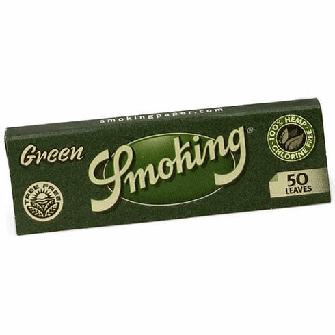 Smoking Green Medium 1-1/4 Roll Your Own Cigarette Rolling Papers