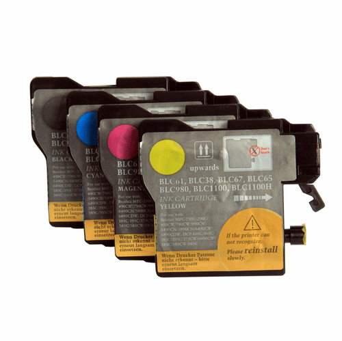 Brother LC61 Ink Cartridges - Set of 4 Compatible Brand Replacements