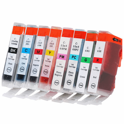 Canon i9900 ink cartridges - Set of 8 compatible replacements