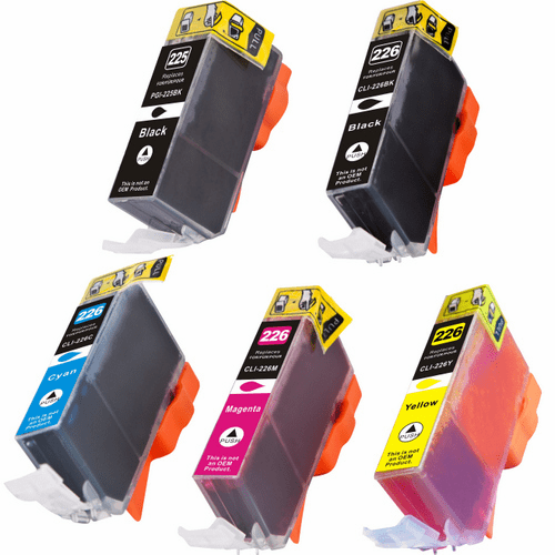 Canon PGI-225 & CLI-226 Ink Cartridges - Compatible Brand 5 Pack Combo