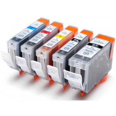 Canon PGI-5 & CLI-8 ink cartridges - Compatible Brand 5 Pack Combo