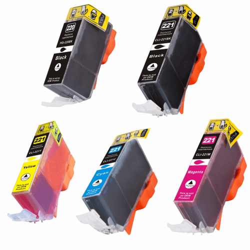 Canon Pixma iP3600, iP4600, iP4700, MX860, MX870, MP640, MP620, MP560 ink cartridges - compatible brand 5 pack combo