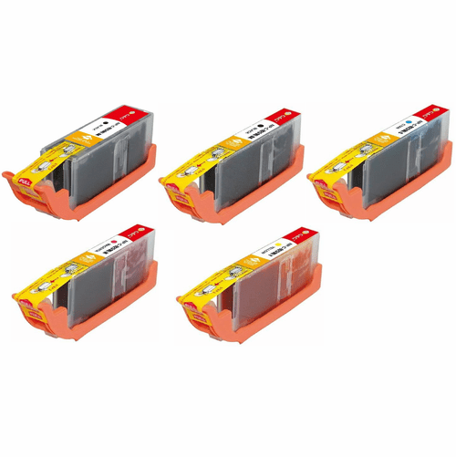 Canon Pixma MG5420 MG5422 MG6320 Ink Cartridges - Compatible Brand 5 Pack Combo