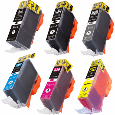Canon Pixma MG6120, MG6220, MG8120, MG8220 Ink Cartridges - Compatible Brand 6 Pack Combo