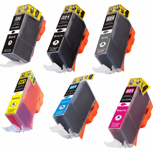 Canon Pixma MP980, MP990 ink cartridges - compatible brand 6 pack combo