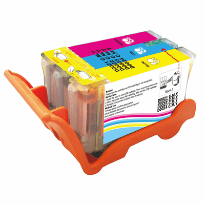 Compatible High Yield #24 Color Ink Cartridge - Replacements for all Dell Series 21, 22, 23, 24