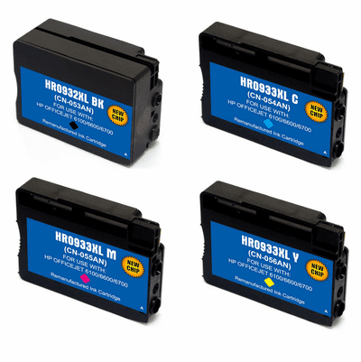 Remanufactured Ink Cartridges for HP 932XL 933XL - Replacement brand 4 Pack Combo