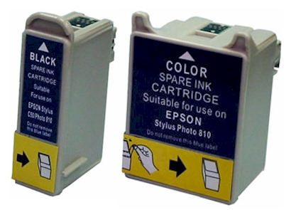 Epson 820 ink cartridges - remanufactured replacements $5.29