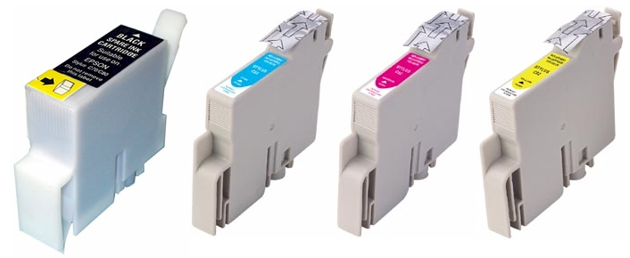 Epson C82 ink cartridges - compatible remanufactured 4 Pack Combo