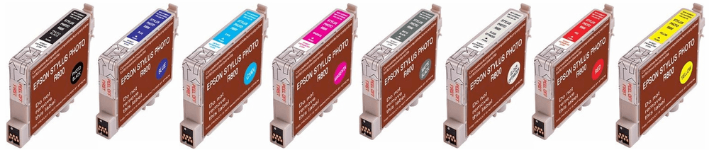 Epson R800 Ink Cartridges - Remanufactured Replacements $6.20