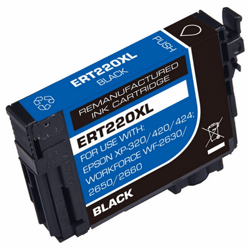Individual 220XL Ink Cartridges Compatible Epson Replacements Black Cyan Magenta Yellow
