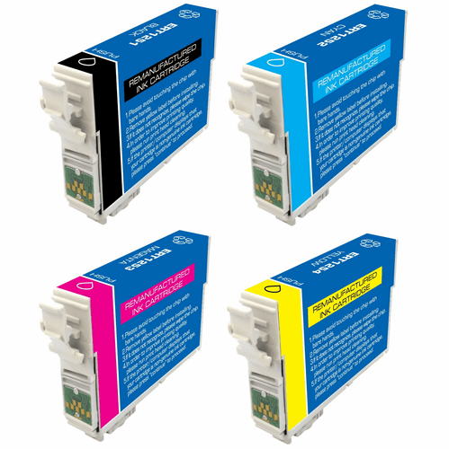Epson Stylus NX420 NX125 NX127 NX130 NX230 Workforce 320 323 325 520 - Compatible brand 4 Pack Combo