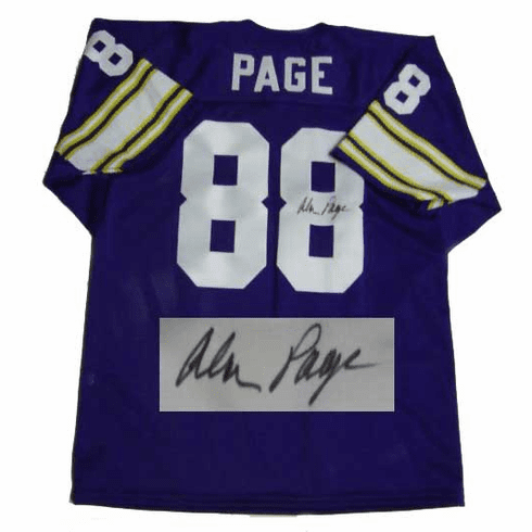 Alan Page Minnesota Vikings Autographed NFL Throwback Purple Jersey
