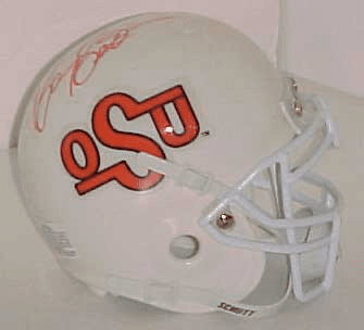 Barry Sanders Autographed Authentic Oklahoma State Mini Helmet