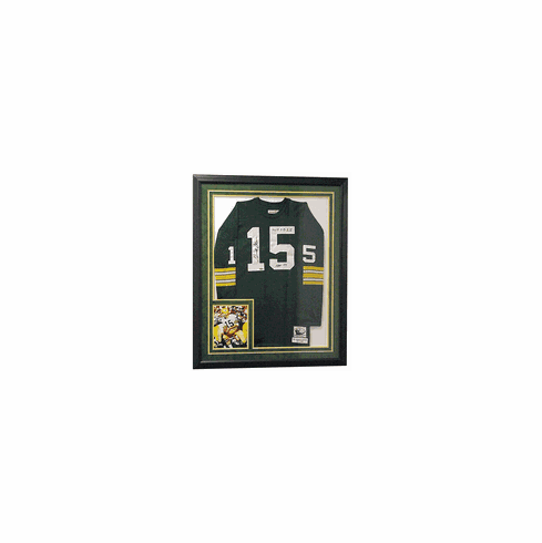 Bart Starr Authentic Autographed Custom Jersey (Framed)