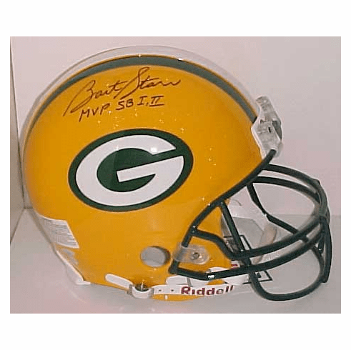Bart Starr Green Bay Packers Authentic Autographed NFL Helmet